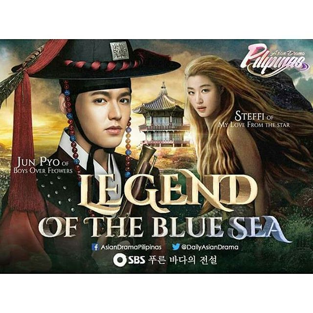 Beautiful fan art for Lee Minho and Jeon Ji Hyun Legend Of The Blue Sea upcoming SBS Korean Drama coming this #november Cr Asian Drama Pilipinas