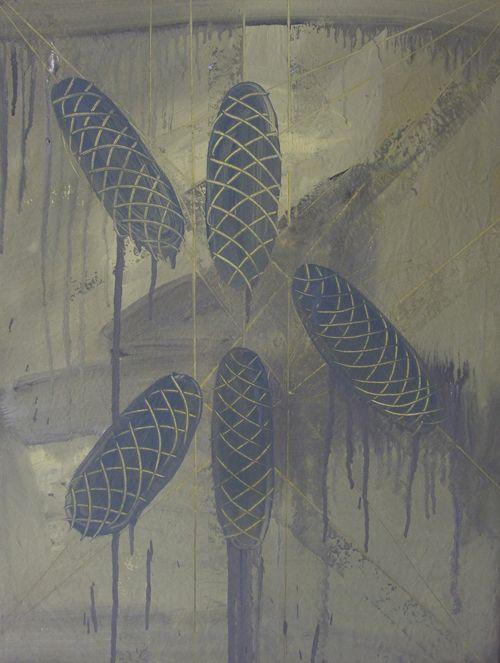 ŠIŠKY 11, akryl na plátně, 80x60