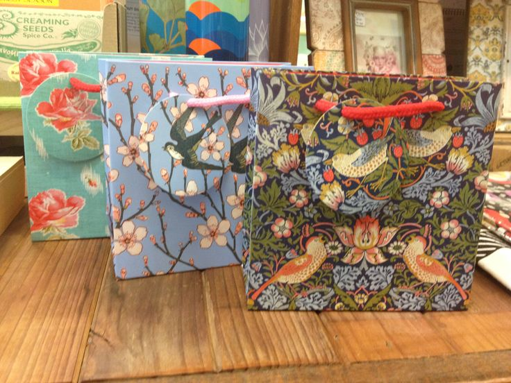 Gorgeous gift bags - make sure these are reused!
