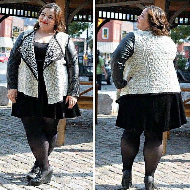 So cute! Love the jacket #slimmingbodyshapers Plus size shapewear and bras, full figured, https://slimmingbodyshapers.com plus size lingerie, curvy woman. slimmingbodyshapers.com