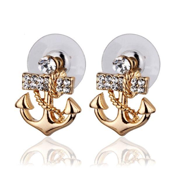 Çapa Küpe #küpe #takı #aksesuar #çapa #stil #moda #earring #anchor #accesorie #style #stilish #fashion #woman