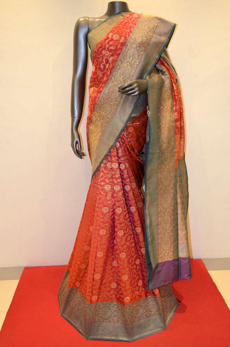 Orange Beautiful Hand Woven Summer Silk Saree Product Code: AA205434 Online Shopping: http://www.janardhanasilk.com/Saree-Collections/Banarasi-Silk-Saree/Banarasi-Summer-Silk/Orange-Beautiful-Hand-Woven-Summer-Silk-Saree?limit=25