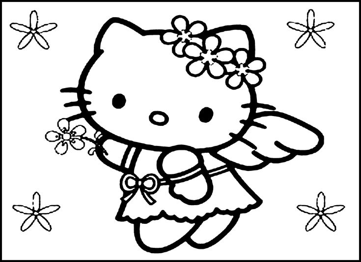 Best 25 Hello Kitty Colouring Pages Ideas On Pinterest