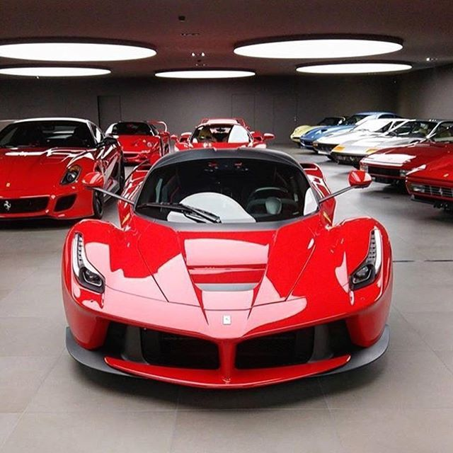 Ferrari Man Cave ! Can you name them all? • Follow @luxury_and_millionaires • • Photo by @focus ...