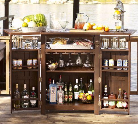 :)Chesapeake Bar, Outdoor Furniture, Outdoor Living, S'Mores Bar, Patios Bar, Outdoor Kitchens, Bar Carts, Outdoor Bar, Pottery Barns