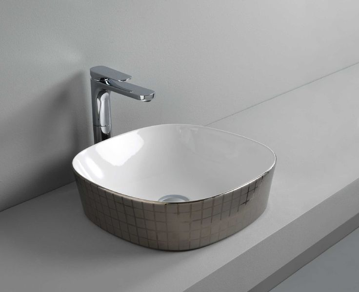 GHOST countertop washbasin #TheArtceram #platinum #decor #bathroom #colors