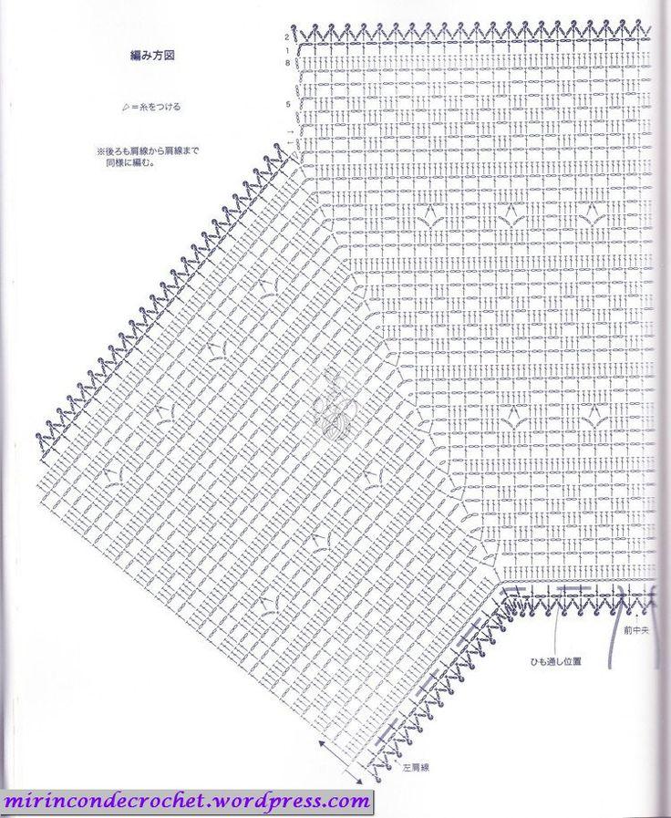 Blusa en filet con mangas murciélago…   Mi Rincon de Crochet