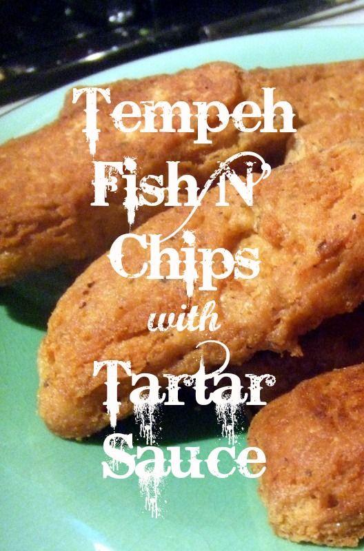 """Tempeh """"Fish N' Chips"""" with Tartar Sauce. http://onegr.pl/1pgARjz  #vegan, #vegetarian, #recipe"""