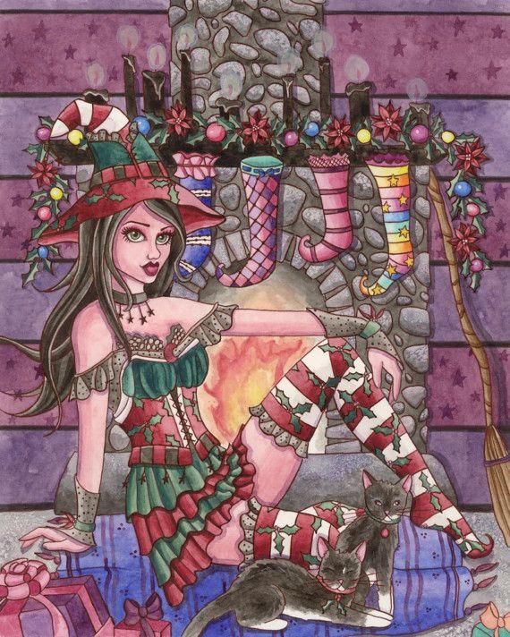 Witch Art Print - Elana - 8 x 10 Fantasy Art Print - by Nikki Burnette