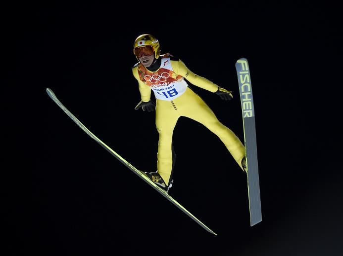 DAY 9:  Noriaki Kasai of Japan during the Ski Jumping Men's Large Hill Individual Finals