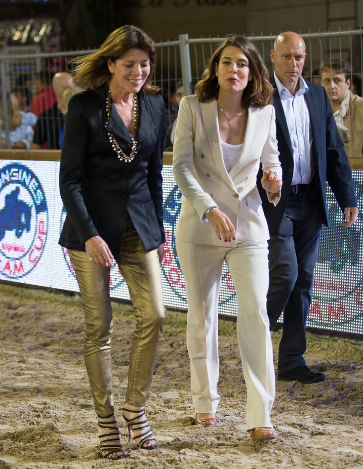 Princess Caroline of Hanover with Charlotte Casiraghi