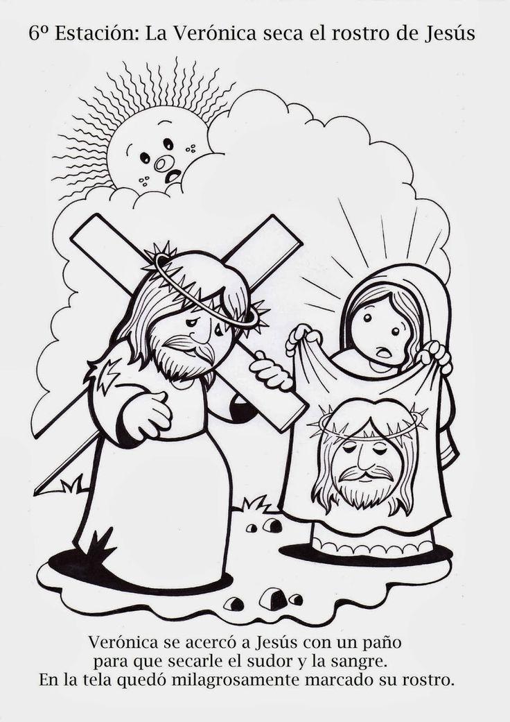 15 best Via Crucis para colorear images on Pinterest | Pascua ...
