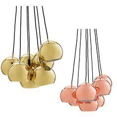 Frandsen Ball Multi Pendel Kobber/Messing | Designbelysning.no