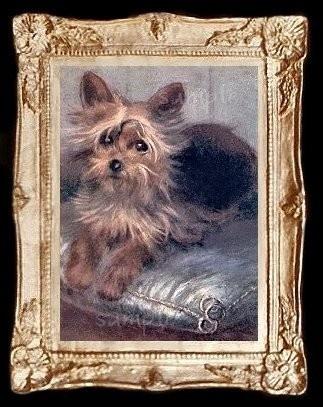 Yorkshire Dog Miniature Dollhouse Yorkie by MyDollhousePictures, $12.95