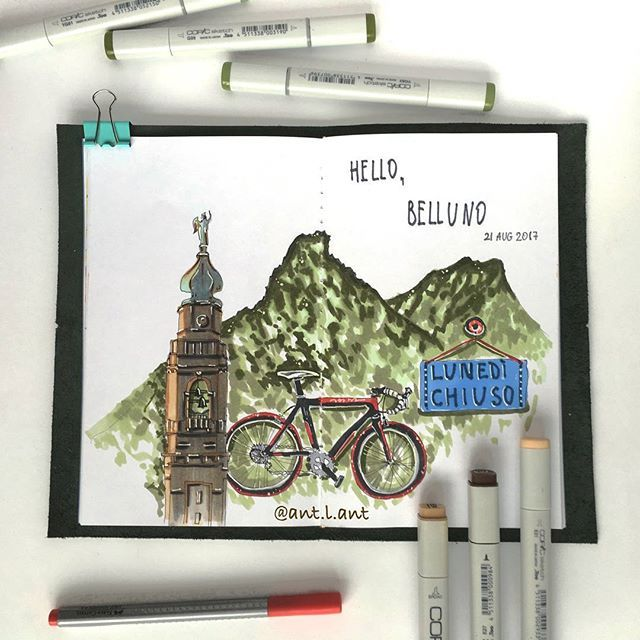 🔹Hello Belluno 👋 #illustration #marker #italian_ant