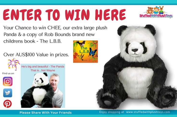 I just entered this Giant Panda Giveaway, you should too. It's from the plush toy website  www.stuffedwithplushtoys.com - Every Animal Imaginable. Enter every single day until March 5th 2017