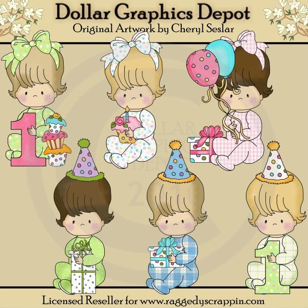Baby Snuggles - First Birthday - Clip Art - *DGD Exclusive* - $1.00 : Dollar Graphics Depot, Quality Graphics ~ Discount Prices