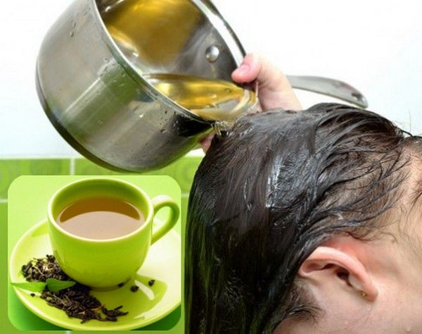 green tea for hair - Green tea helps make hair strong and shiny! It's a natural remedy for dandruff as well as dry hair.  Steep 3-4 green tea bags in 1 liter of boiling water for about an hour. Let it cool and use the liquid as a final rinse after you've shampooed and conditioned.