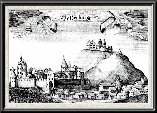 Rekonstrukcja lub stary widok zamku nidzica