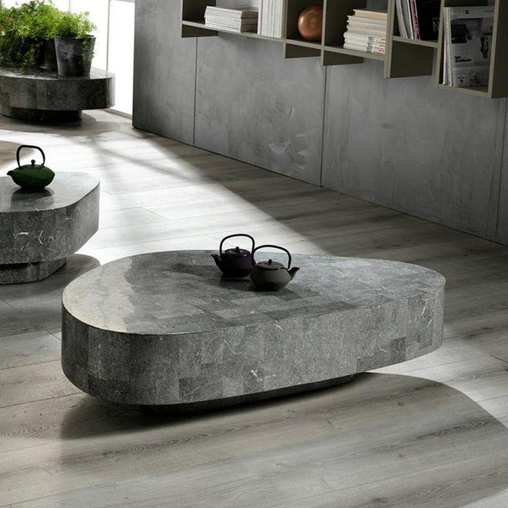 15 best Tavolini Salotto in pietra images on Pinterest Stones - couchtische stein fossilstein modern design