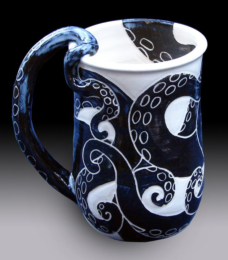 Octopus Mug by rhoneypots