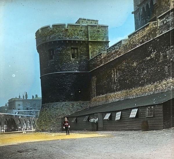 Alone at the Tower of London, c. 1910