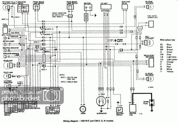 Honda C70 Wiring Diagram Images (Dengan gambar)
