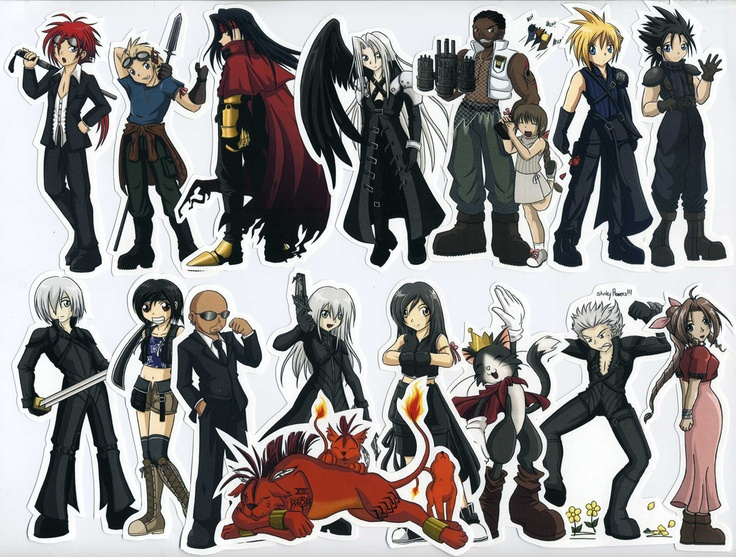 stickers final fantasy vii advent children character