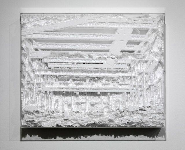 Carlos Garaicoa Foto-topografía/ Photo-topography (Cuatro Caminos), 2012 31 1/2 × 39 2/5 × 5 9/10 in 80 × 100 × 15 cm Galleria Continua