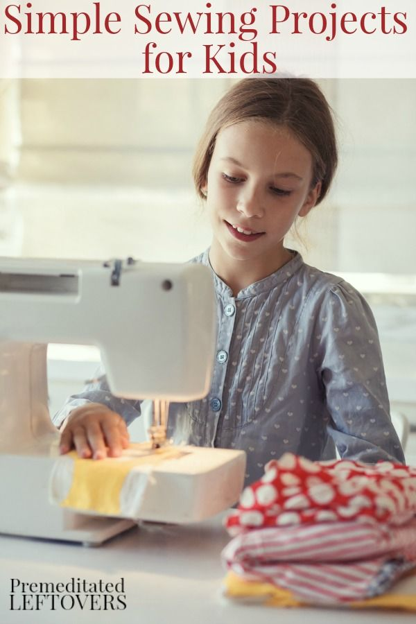 Simple Sewing Projects For Kids - A list of basic sewing supplies needed and 2 simple (no-pattern) sewing projects perfect for beginning sewers.