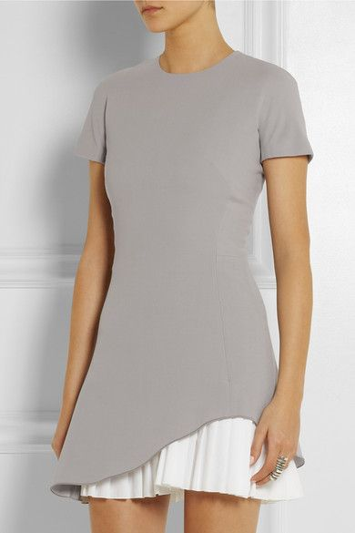Silk and wool-blend crepe mini dress by Victoria Beckham