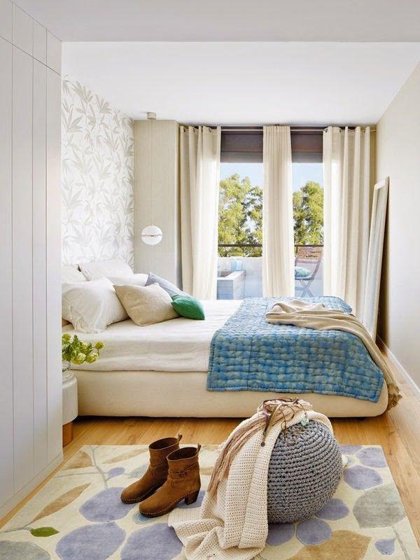 plavi stan ureenje doma - Schlafzimmerideen Des Mannes Grau