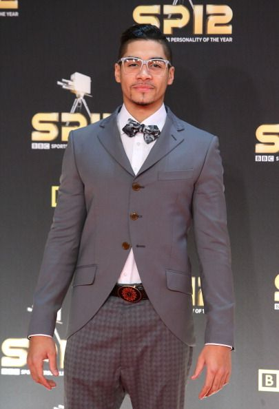 Grey suit and bow tie