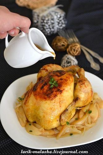 Летние картинки. Запеченная курица с сидром и яблоками: larik_malasha