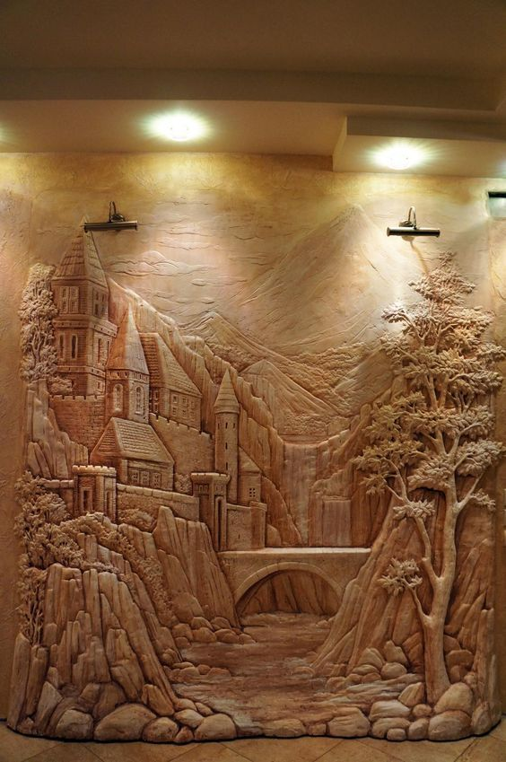 698 best images about for Bas relief mural