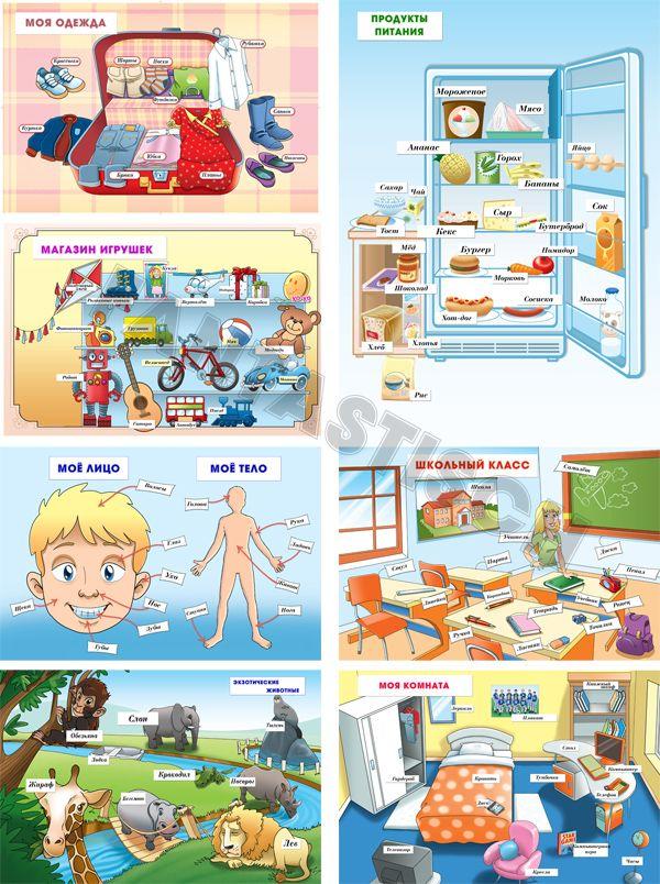 Плакаты для занятий с детьми
