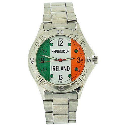 Jakob Strauss Gents Shamrock Ireland Silver Tone Bracelet Strap Watch JAST23