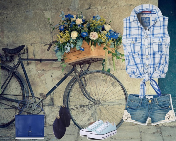 """summer biking outfit"" by homeyyomey on Polyvore"