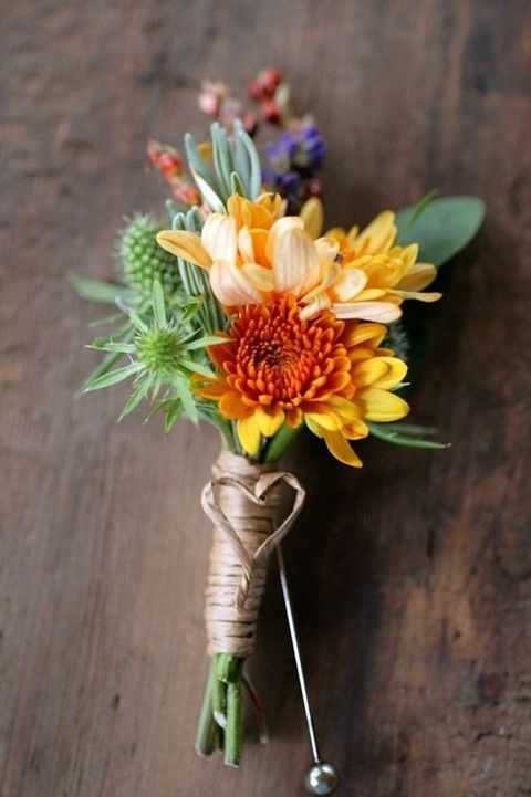 Fall Wedding Boutonnieres For Every Groom www.MadamPaloozaEmporium.com www.facebook.com/MadamPalooza