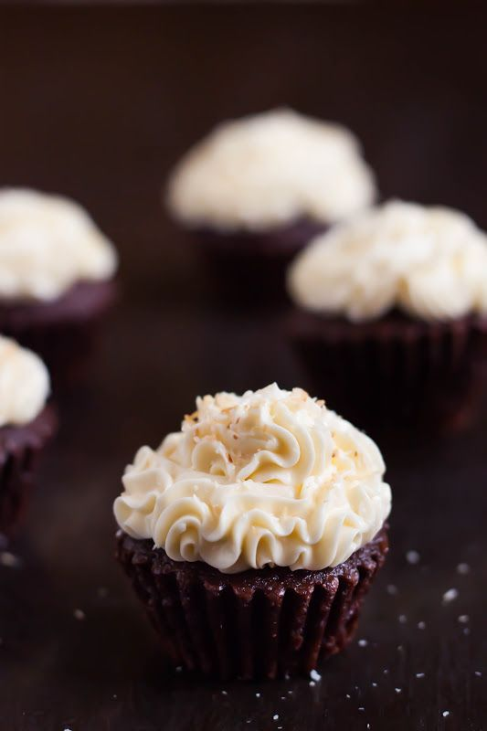 Mocha Coconut Cupcakes | Cupcakes, of course! -with a few muffins, to ...