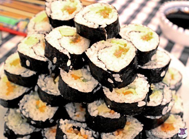 Vegetarisches Sushi-selber machen - Sushi Kurs