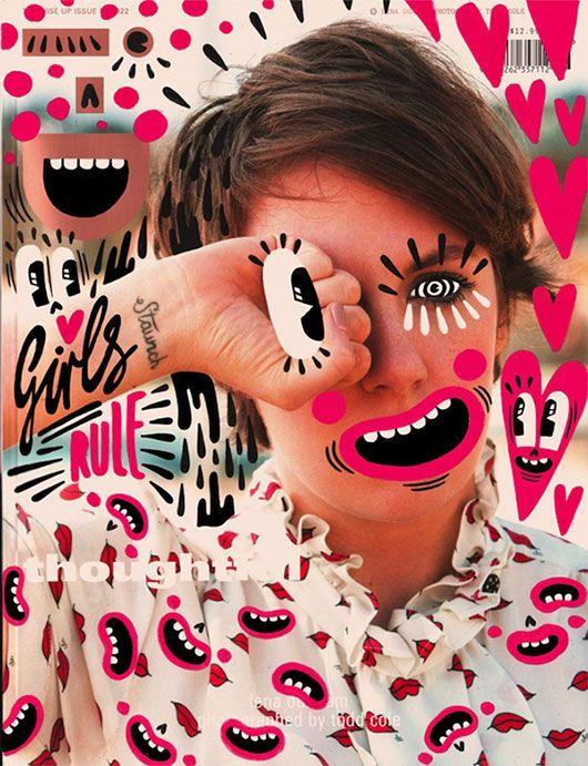 magazine cover art by Ana Strumpf / sfgirlbybay