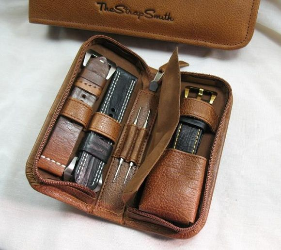 New Handmade Watch Strap Cases from The Strap Smith | The Luxury Bazaar Blog<<< repinned by www.BlickeDeeler.de Follow us on Facebook  >>> www.facebook.com/BlickeDeele