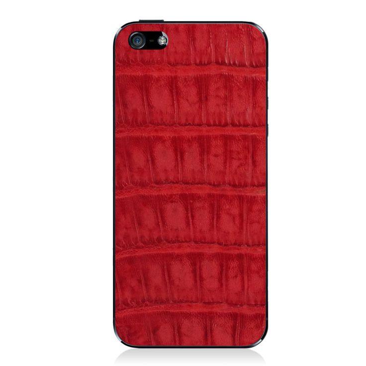 Red Crocodile iPhone 5 - 5S - SE Leather Skin