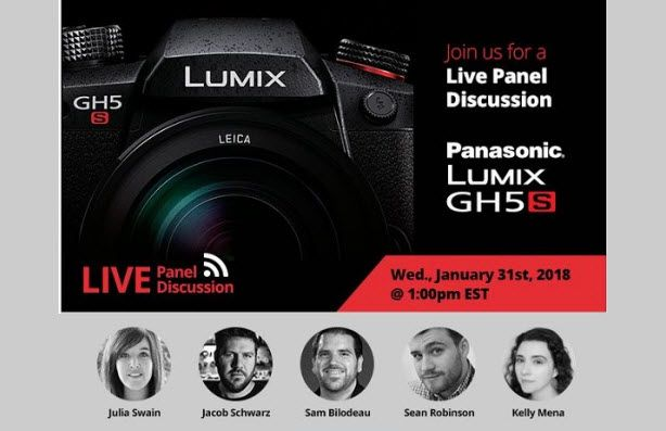 Don't Miss It! B&H Live Panel Discussion On The New Panasonic Lumix GH5s - http://blog.planet5d.com/2018/01/dont-miss-bh-live-panel-discussion-new-panasonic-lumix-gh5s/