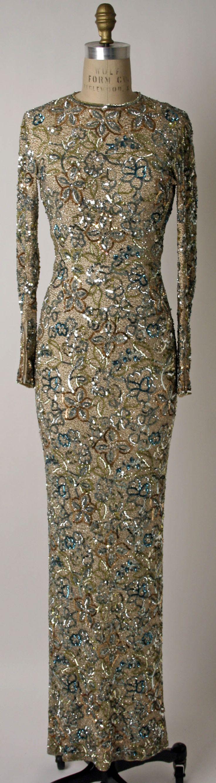Evening dress 1900 american