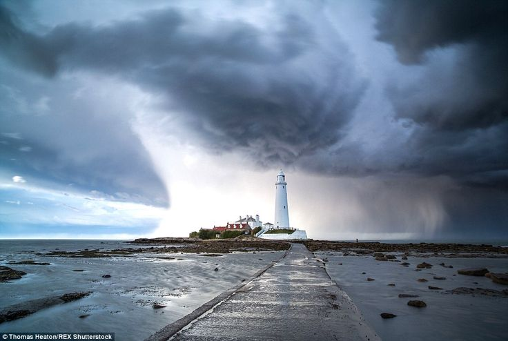 A storm at St Mary's Lighthouse in Whitley Bay. Thomas Heaton said: 'Looking out of my win...