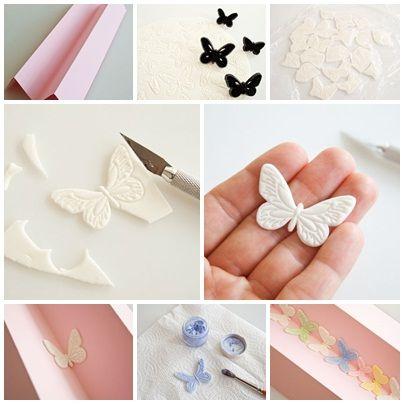 Comment faire un papillon en pate a sucre