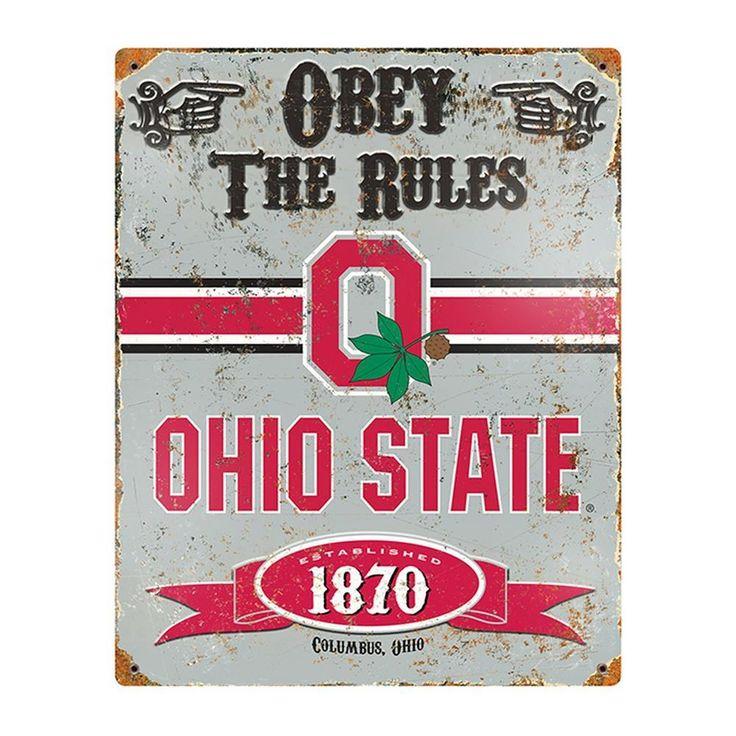 Ohio State University Buckeyes Vintage Metal Sign