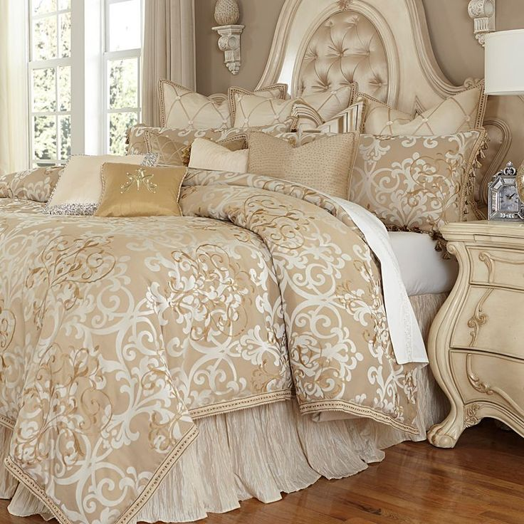 Luxembourg Bedding from Michael Amini Bedding by AICO, Luxury Bedding Sets and Comforters